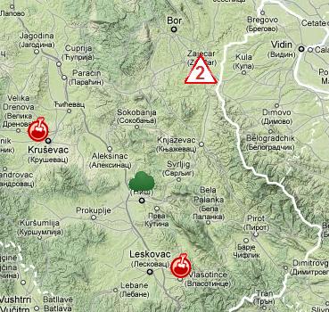 lebane mapa srbije ZELENA ZEMLJA   zastita zivotne sredine, ekologija i recikliranje  lebane mapa srbije